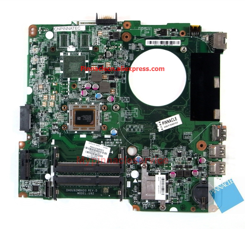 734446 501 A8 5545M материнская плата для HP Pavilion TouchSmart 14 N DA0U92MB6D0