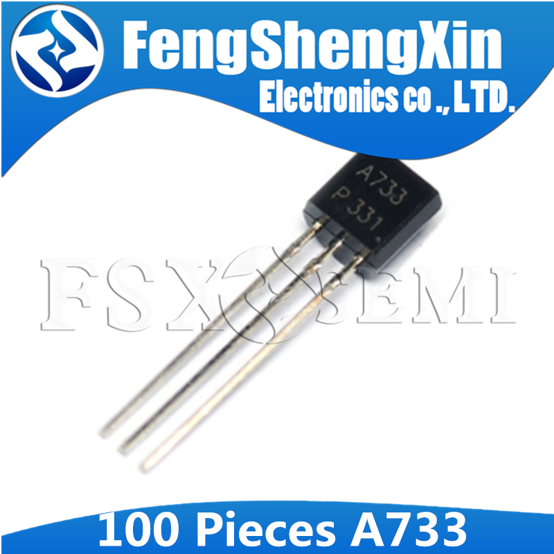 100pcs/lot New <font><b>A733</b></font> 2SA733 TO-92 NPN <font><b>transistor</b></font> image
