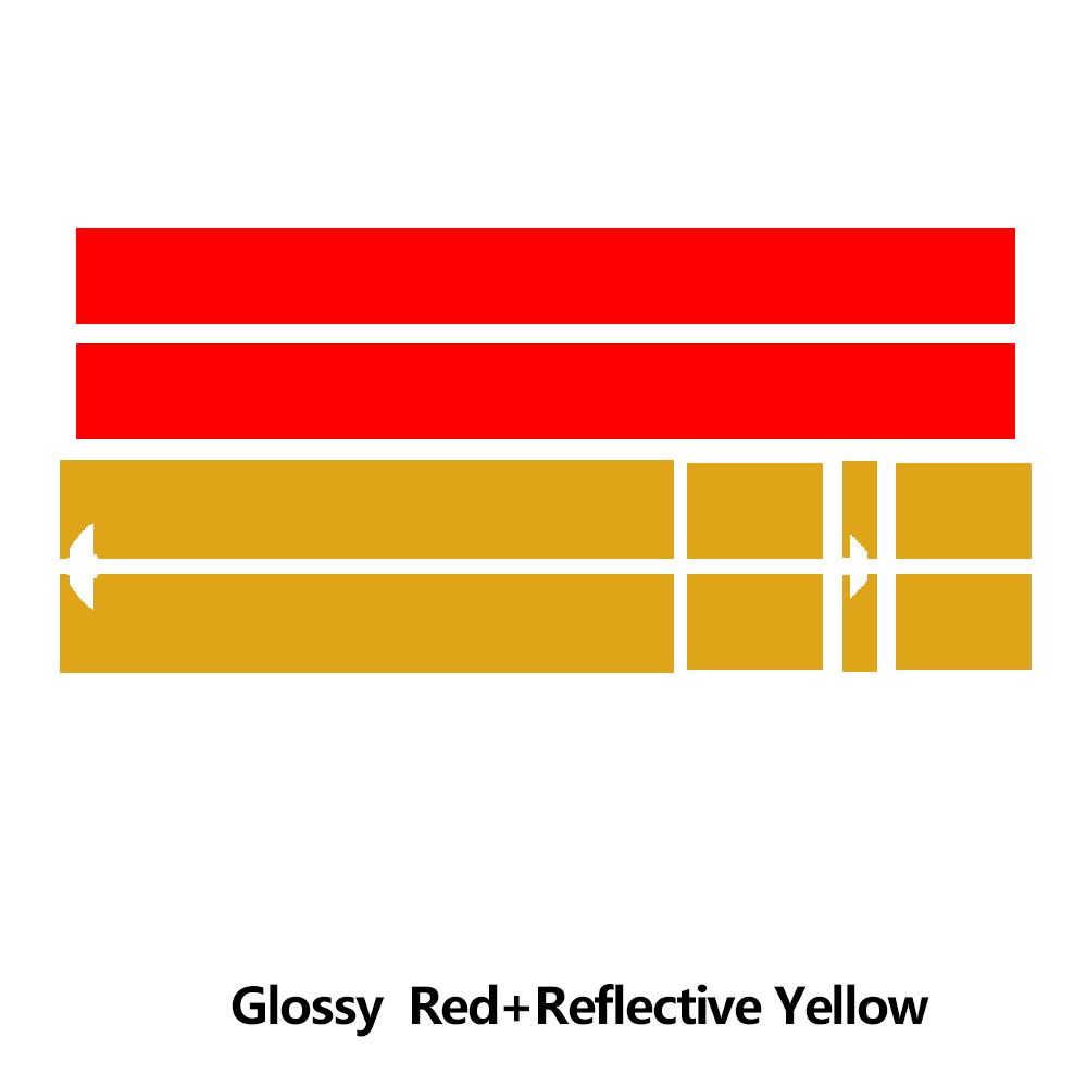 Наклейка на капот автомобиля капот полосы крыши задняя крышка двигателя стикер для мини-купе R58 Cooper S JCW Джон Купер работает аксессуары - Название цвета: KK red and yellow