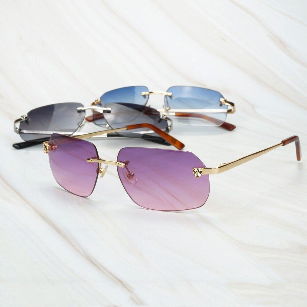 Vintage Leopard Sunglasses Men Luxury Shades For Women Gafas De Sol For Outdoor Carter Designer Mirror Sunglasses For Decoration