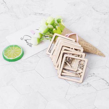 10 sztuk wyciąć drewniana ramka na zdjęcia Shapd zdobienie drewniany kształt Craft Wedding Decor tanie i dobre opinie NoEnName_Null CN (pochodzenie) Drewna CLASSIC Plac 57EB7HH500950-2 10 opakowań