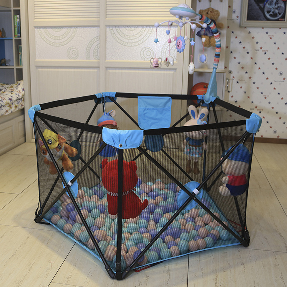 Folding Baby Playpen Fence Folding Safety Barrier No Need Instrallation Game Playpen Kid Children Tents For Newborns