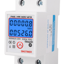 Energy-Meter Electricity Kwh Din Rail Voltage-Current-Power-Consumption Digital AC Single-Phase