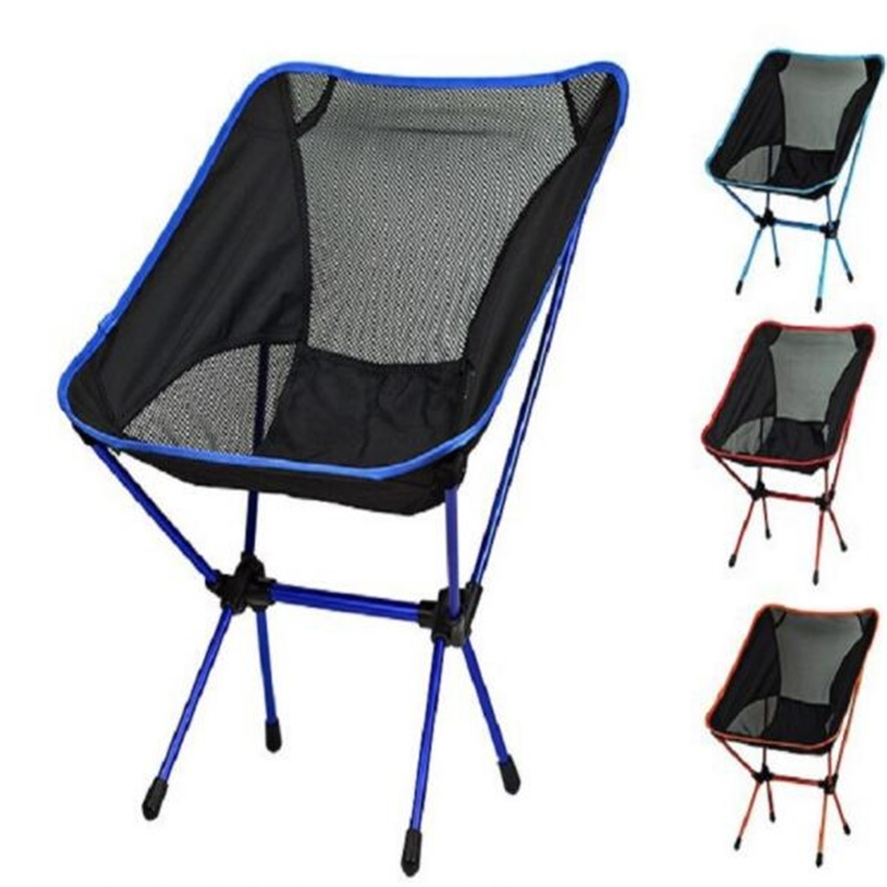 Wholesale Portable Fishing Chair Folding Beach Chair Ultra-Light Camping Leisure Chair