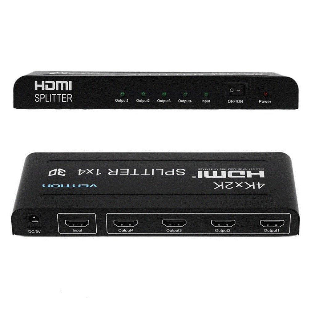 Full HD HDMI сплиттер 1X4 4 порта концентратор ретранслятор усилитель v1.4 3D 1080p 1 в 4 из