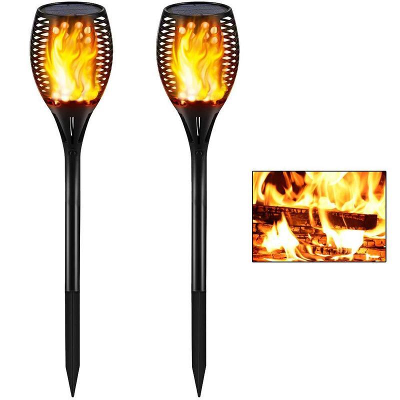 Amazon Cross-border Hot Style 96 Led Solar Lamp Outdoor Garden Lawn Lamp Garden Landscape Torch Light