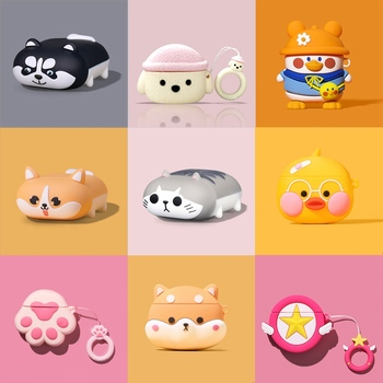 3D Rabbit Earphone Case for AirPods Pro Case Cute Cat Paw Dog Cartoon for Apple Air Pods 3 Cases Headphone Earpods Earbuds Cover