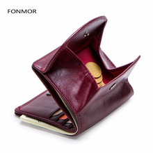 Genuine Leather Women Wallet Fashion Coin Purse For Girls Female Small Portomonee Lady Perse Money Bag Card Holder Mini Clutch kavis genuine leather women wallet female small walet portomonee lady mini zipper money bag vallet coin purse card holder perse