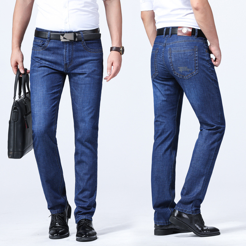 Manufacturers Direct Selling MEN'S Jeans Men Straight-Cut Loose And Plus-sized High-waisted Business Casual Pants Youth Men's Tr