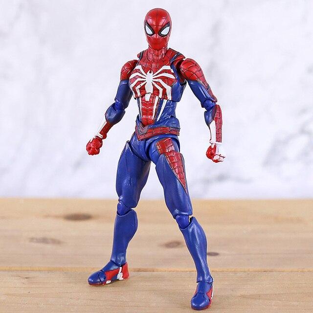 SHF Человек паук Homecoming пвх паук модель фигурку Бесконечность Военная Модель Коллекционная игрушка для мальчика подарки