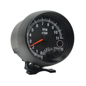 Image 5 - Dragon 3.75 Inch Racing Car Tachometer Gauge 7 LED Colors 0 11000 Rpm For 1/2/3/4/5/6/7/8 Cylinder Black Shell And Face Meter