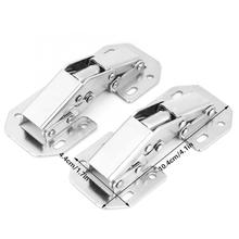 Stainless Steel Spring Hinge No-Drilling Hole Bridge Shaped Cupboard Cabinet Door Hardware Hinges Antique