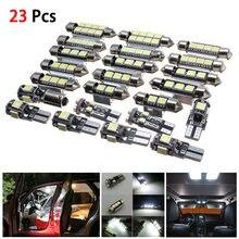 23 шт светодиодные лампы для освещения салона автомобиля белые