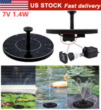 цена на 7V Fountain Watering Solar Power kit Solar Pump Pool Submersible Pond Waterfall Floating Solar Panel Water Fountain For Garden