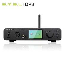 SMSL DP3 hi res odtwarzacz cyfrowy ES9018Q2C DAC 32Bit/384Khz DSD 256 dwukierunkowe wejście Bluetooth/WIFI/DLAN USB/koncentryczne/AES/wyjście rca