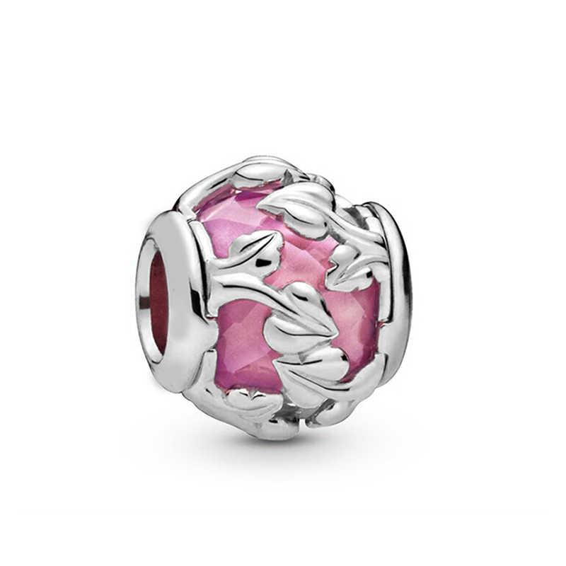 2Pcs 45 סגנונות ורוד כתר & אהבת לב קסם חרוזים Fit מקורי פנדורה קסם צמיד & שרשרת לנשים תכשיטים אותנטיים