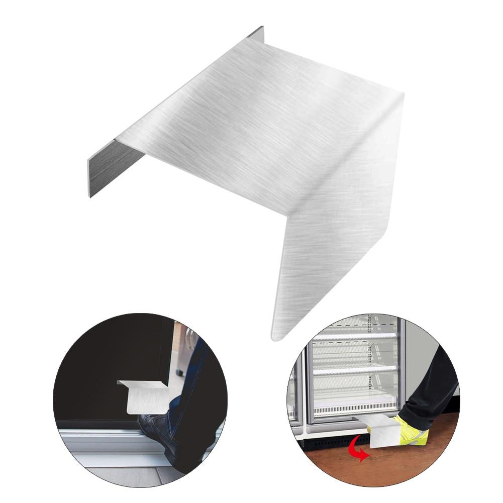 Alloy Hands Free Foot-operated Door Opener Metal Hygienic Sanitary Floor Handle Easily Open Doors