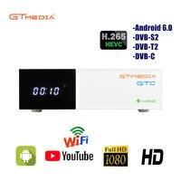 GTMEDIA GTC smart tv box z systemem Android 6.0 4K Wifi Netflix zestaw top odtwarzacz multimedialny box 2GB16GB z 1 rok cccam wsparcie IPTV Android box w Satelitarny odbiornik TV od Elektronika użytkowa na