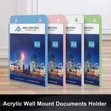 A5 Removable Hanging Wall File Holder Post Mail Letter Literature Book Magazine Document Folder Pocket Brochure Display