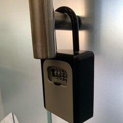 Bezpieczne pudełko z kod bezpieczeństwa tajemnica stash kluczyk samochodowy ukryte do przechowywania bezpieczeństwa ukryć szafki sejf do domu na zewnątrz mała szafka w Sejfy od Bezpieczeństwo i ochrona na