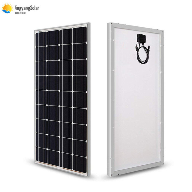 Solar Panel 100w 200w 300w 400w 18V Rigid Glass Panel Monocrystalline Cell 12V/24V Battery Charger Panneau Solaire RV Home Roof
