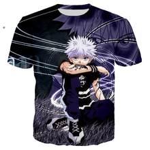 Summer Anime Killua 3D Printed T-Shirt Boys And Girls Hip-Hop Campus Short-Sleeved O-Neck T-Shirt Men's Street Harajuku Top
