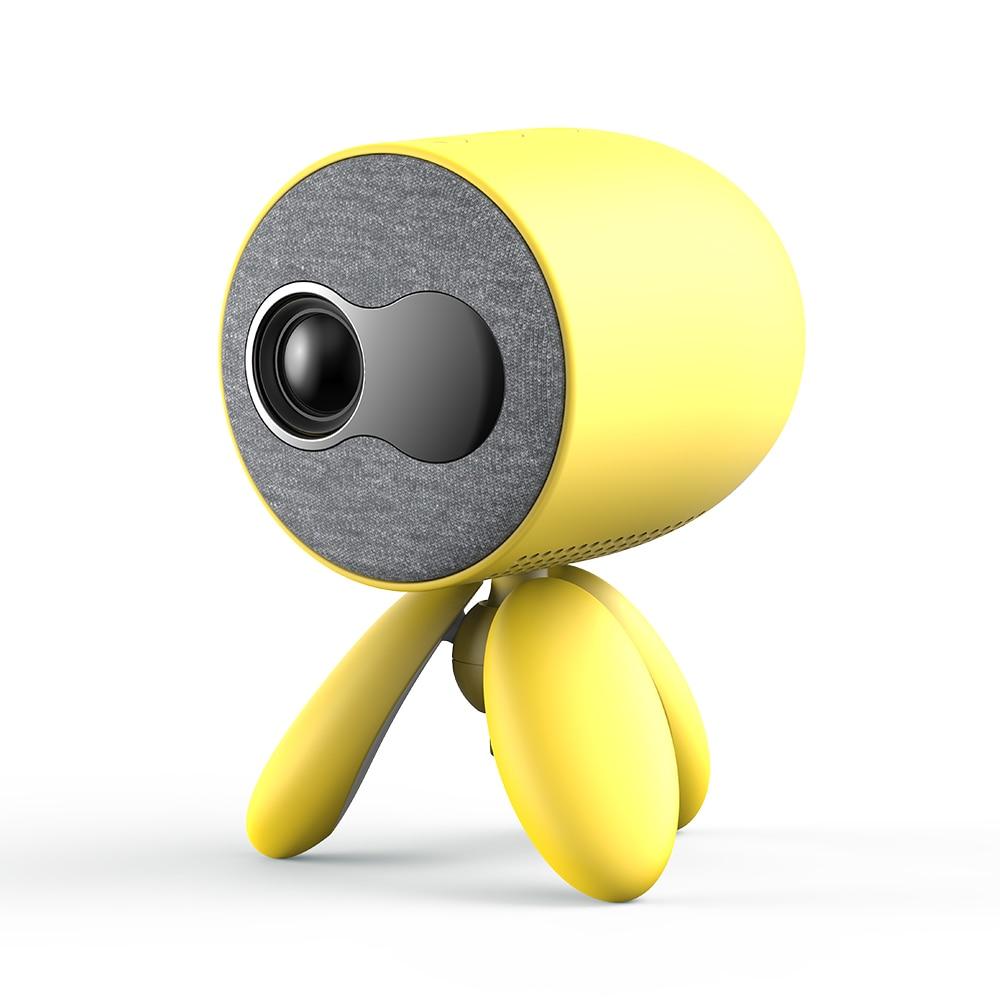 LEJIADA YG220 Mini Projector Pixels Update Version Portable Pocket Cute Projector Video Player Kids Gift()