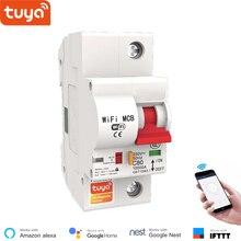 Tuya Smart WiFi 1P Smart Circuit Breaker Smart Life APP Control Overload ShortCircuit Protection Voice control Alexa Google Home