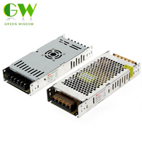Ultra Thin LED Power Supply DC5V 200W 300W LED Switch Driver Power Adapter AC190-240V Lighting Transformers for LED Strip Lights