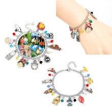 Classique Anime Chihiro et Totoro et Kiki la petite sorcière Charmes Bracelets Pour Femme accessoires Chaîne Bracelet Bracelet