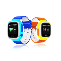 Q90 children's watch phone GPS positioning quartz watch waterproof luminous student watch color screen touch screen GPS position