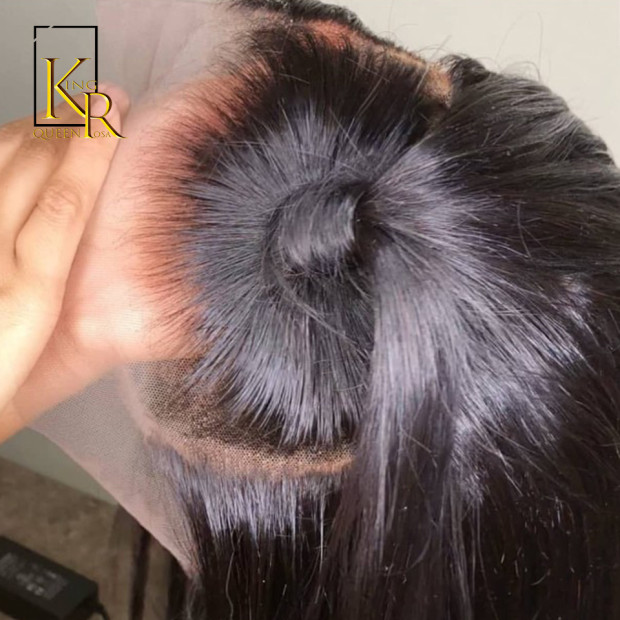 360 Lace Frontal Wig Brazilian Remy Straight Wigs 360 Full Lace Front Human Hair Wigs For Black Women Pre Plucked With Baby Hair