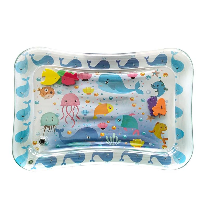 70CM Baby Kid Water Play Mat Inflatable Thicken PVC Infants Gym Playmat