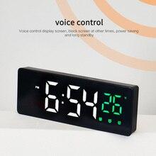 Spiegel Digitale Uhr Große Schrift Display LED Großen Bildschirm 12/24-stunde System Lange Lebensdauer Tabelle Uhren Multi-funktion alarm Uhren