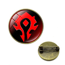2019 new Game World of Warcraft Tribal Logo Pins Brooches Alliance Horde WOW Badge Brooch for Women Men Jewelry Gift(China)