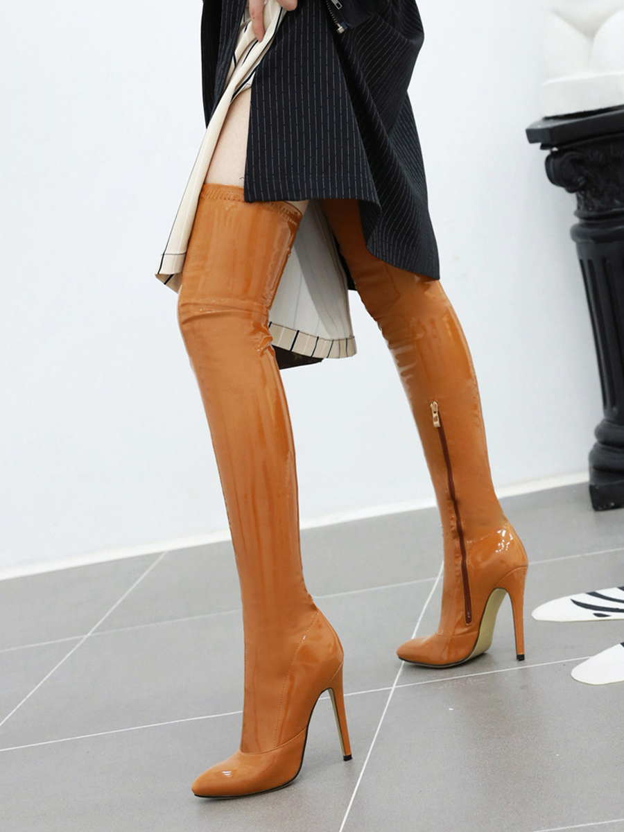 Over-The-Knee Boots Shoes Cuissardes Stretch Thigh Sexy Autumn Winter Women Ladies Plus