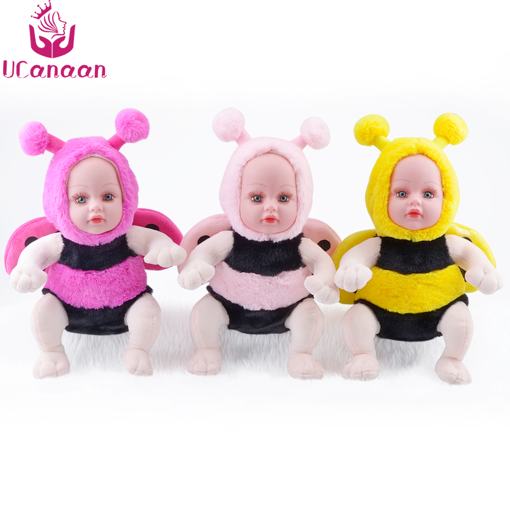 35CM Stuffed Doll Plush Toys Animals For Kids Children Holiday Gift Cartoon Bee Soft Accompany Sleeping Toy