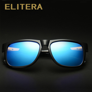 Image 2 - ELITERA Square Wide Frame Sunglasses For Men Women Polarized Glasses