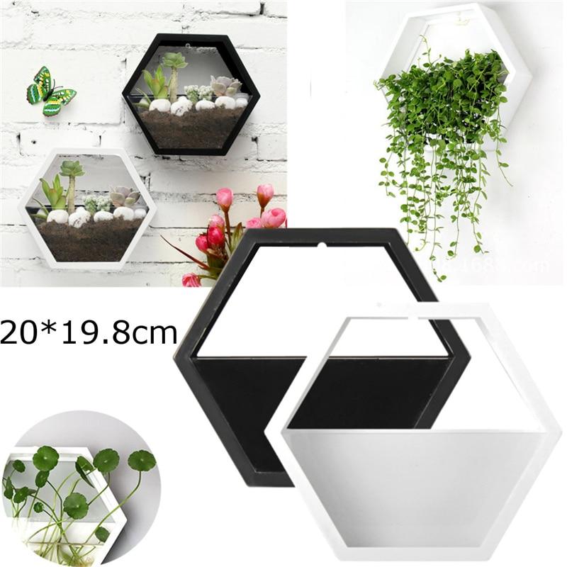 Brief Acrylic Flower Plant Pot Hanging Wall Hydroponics Succulent Plant Vase Home Living Room Hanging Planter Basket Flower Pot