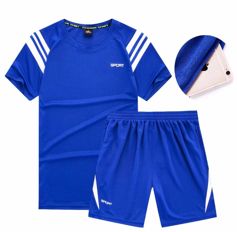 Sports Set Men Summer Short Sleeve T-shirt Quick-Dry Athletic Clothing Running Gym Clothing Loose-Fit Short Shorts