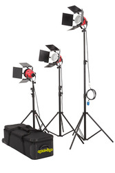 Kit 3* PRO 800w Red Head Continuous Light with cooling frame +6* Bulb+3* Stand+1*Flycase soft flood lighting