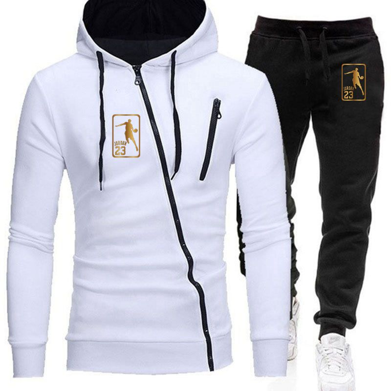 2020 Men's Sets Brand Sportswear Tracksuits Sets Men's Zipper Sporting Hoodies+Pants Sets casual Outwear sports Suits men Hoodie
