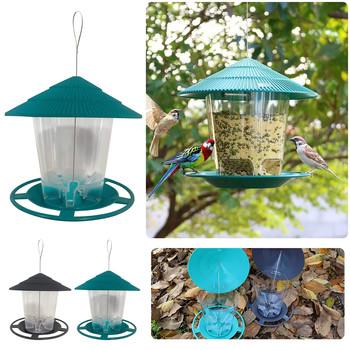 2021 nowy wodoodporny altanka wiszący karmnik dla ptaków zewnętrzny ogrodowy karmnik dekoracja karmnik dla ptaków wiszący karmnik dla ptaków tanie i dobre opinie CN (pochodzenie) Garden Carts