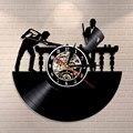 Бильярдный плеер настенный знак персонализированные настенные часы Уникальный бильярдный держатель декор комнаты Виниловая пластинка ча...