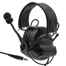 Tactical Comtac II air gun military headphones noise reduction headphones shooting hunting hearing protection earmuffs BK genome ii bk rd