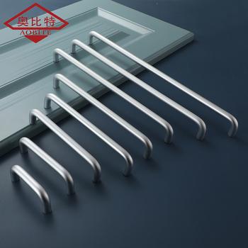 AOBT aluminium perła srebro uchwyty do szafek kuchennych ciągnie sprzęt 64 MM-320 MM wiele dostępne rozmiary hurtownia szafa ciągnie tanie i dobre opinie Maszyny do obróbki drewna Meble uchwyt i pokrętła 288mm Nowoczesne