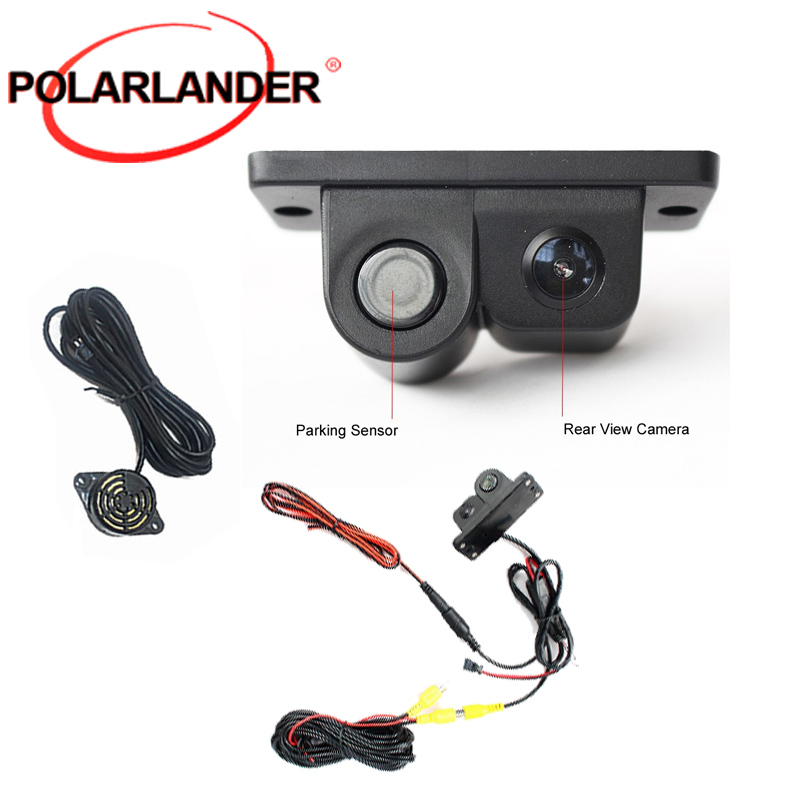 best selling Reverse camera LCD Car SUV Parking Radar & Rear View night vision Backup Camera Kit 120 degree image