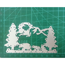58*100mm  Crafts Metal Steel Cutting Dies New Christmas bear decoration Stencil For DIY Scrapbooking Paper/photo Cards Embossing merry christmas words flower stripe hot sell hot foil plates for scrapbooking diy paper cards crafts decoration new 2019