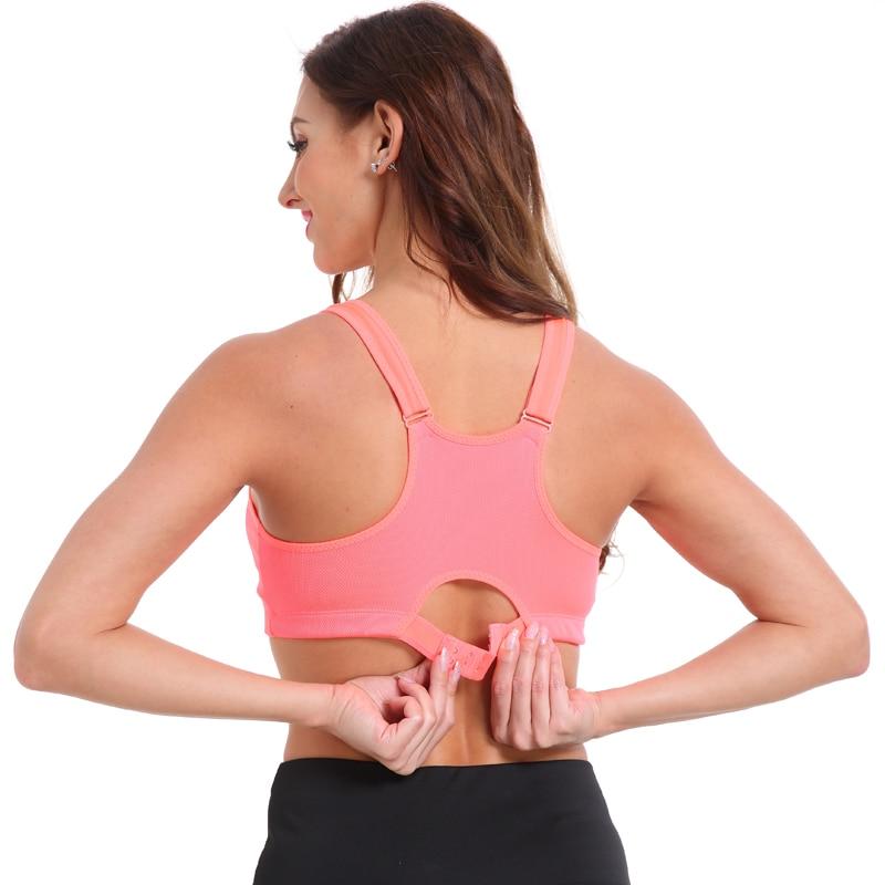 Women's Zipper Push Up Sports Bra 17
