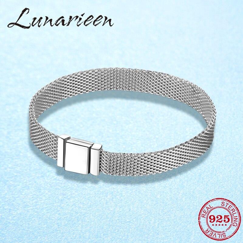 2019 New 925 Sterling Silver Clip Bead Fine Watch Chain Bracelet Fit Original Reflexions Women Charms Bracelet Jewelry Making